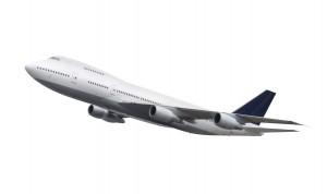 מטוס עם רקע לבן